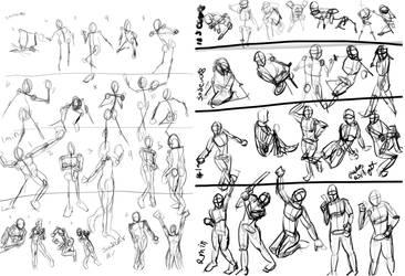 Gestuers 1 vs 200 or so by LadyKylin