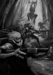 Death Squads Kroot by Goottipoju
