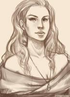 Sanguine Rose -sketch- by zeldyn