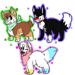 Three canines .:GIFTS:. by MotherCorgi