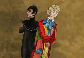 The Doctor and the Valeyard by SmudgeThistle
