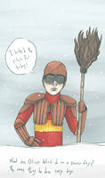 Oliver Wood - Snow Day by SmudgeThistle