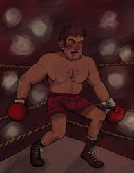 Boxing Stanley Pin Up for cienmawoda by SmudgeThistle