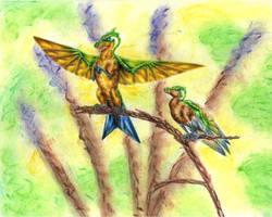 Emerald-Crested Brilliants by Ara-Tun