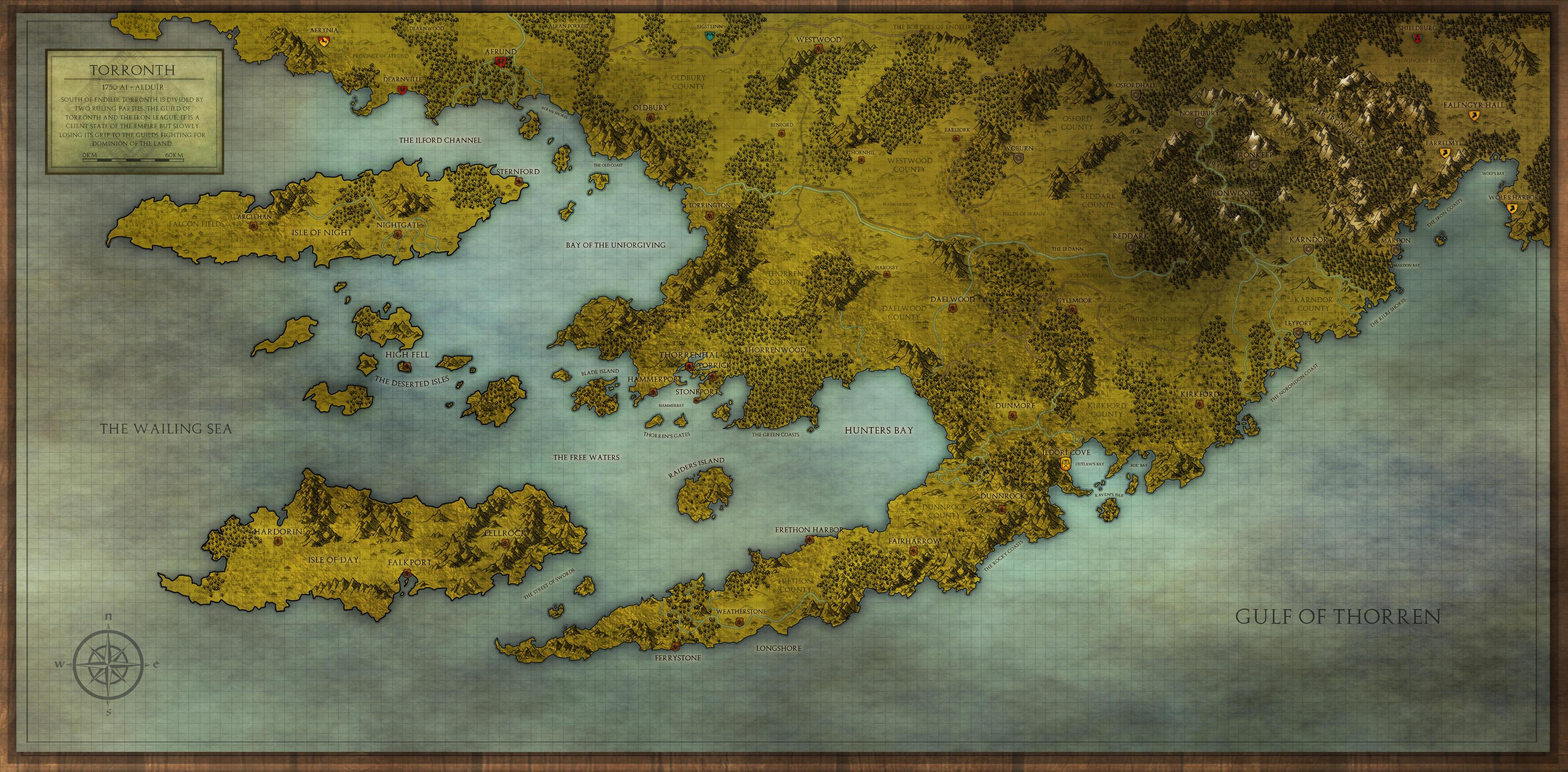 Torronth Regional Map by PicanteSemmy