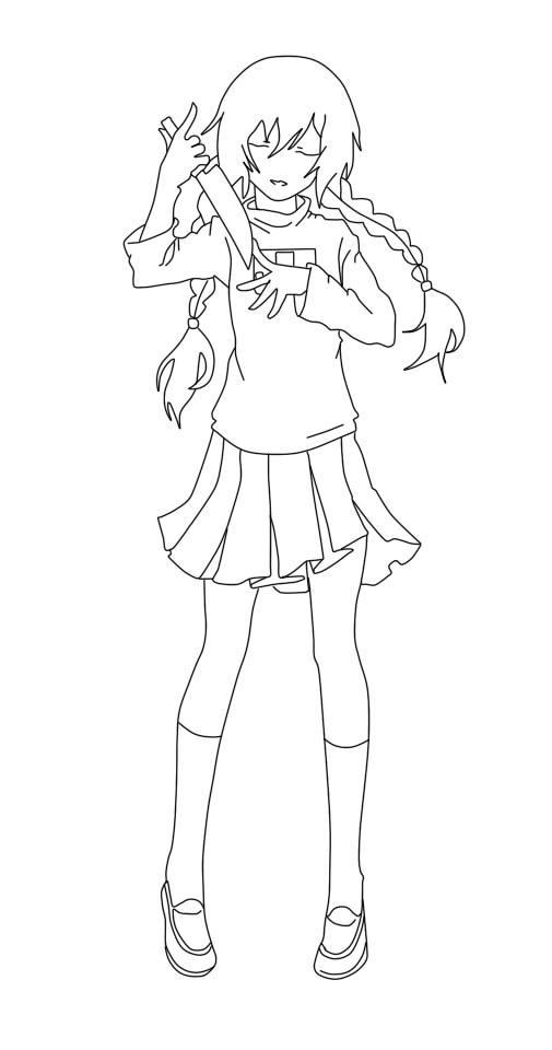 Anime Para Pintar By Xadoox On Deviantart