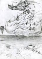 dragon rider by Chacartz