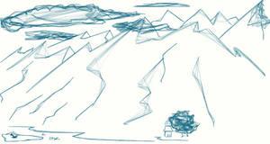 strange web brush on mountains by Chacartz