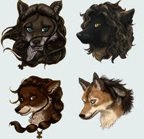 Spirits of Norse and Golden Eyes by MarianneEie