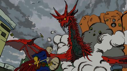 Dark Souls - Red wyvern by titano88