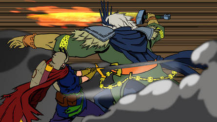 Boss fight by titano88