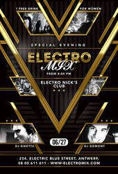 Special Evening Electro Mix Party In Club by n2n44