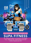 Flyer Super Modern Fitness Club Advertising Openin by n2n44