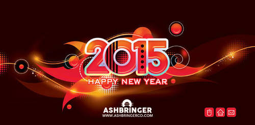 Good Wishes Happy New Year Card 2015  by n2n44