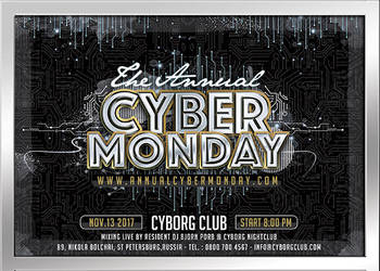 Cyber monday flyer by n2n44