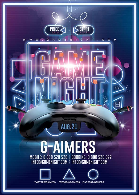 Game Night Flyer by n2n44