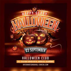 Squared Halloween Flyer by n2n44