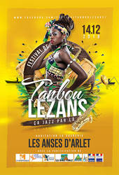 Tanbou Lezans Festival - official flyer by n2n44