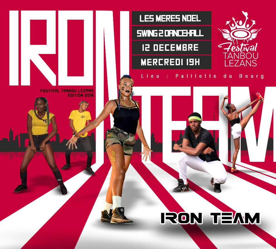 Iron Team Dancing group flyer by n2n44