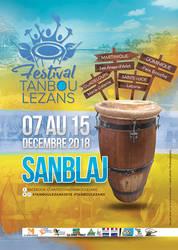 Flyer Sanblaj for the Tanbou Lezans festival by n2n44