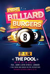 Billiard Burgers Pool Flyer by n2n44