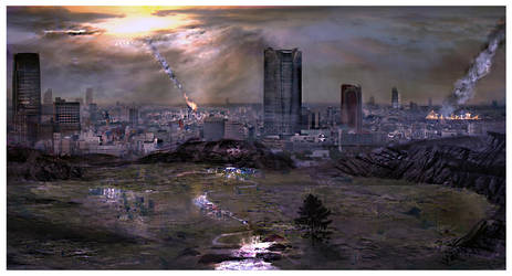 Overlooking Disaster Town by m7stone