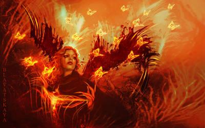 Fiery Death Angel by Blavatskaya