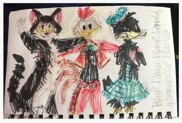 Sir Black Donald, Black Dinah, and Panchito Blanco by MrBig2