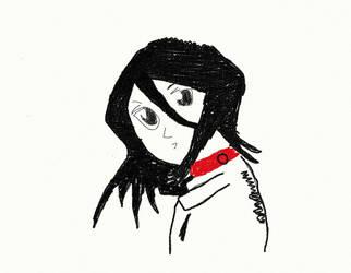 rukia san chalk version by akahimekun