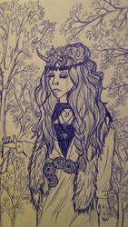 Shironuri in blue by Minda-Mouse