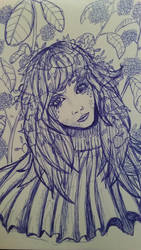 Minori in blue by Minda-Mouse