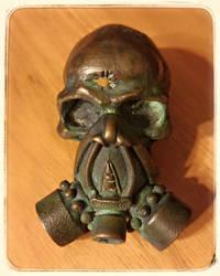 Bullet Hole Gas Mask - Belt Buckle by Twistedbry
