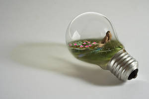 Mermaid in bulb by onestepfromheaven