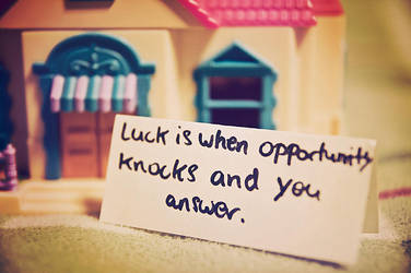 luck is when ... by onestepfromheaven