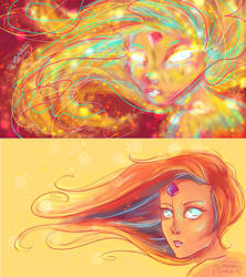 Before and After - Flame Princess by LittleMsArtsy