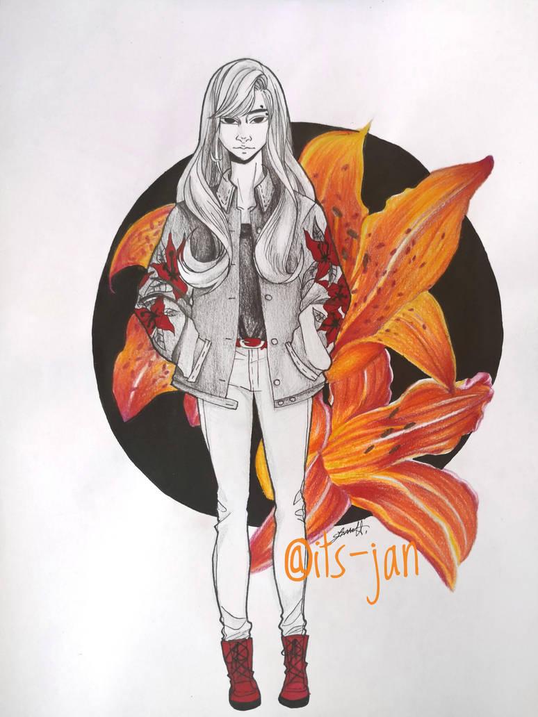 Orange lily by its-jan