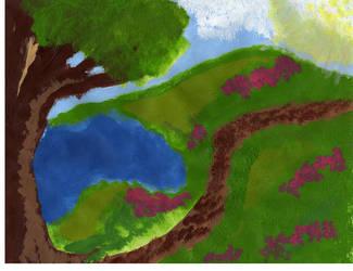Bright Landscape by slam-the-keys