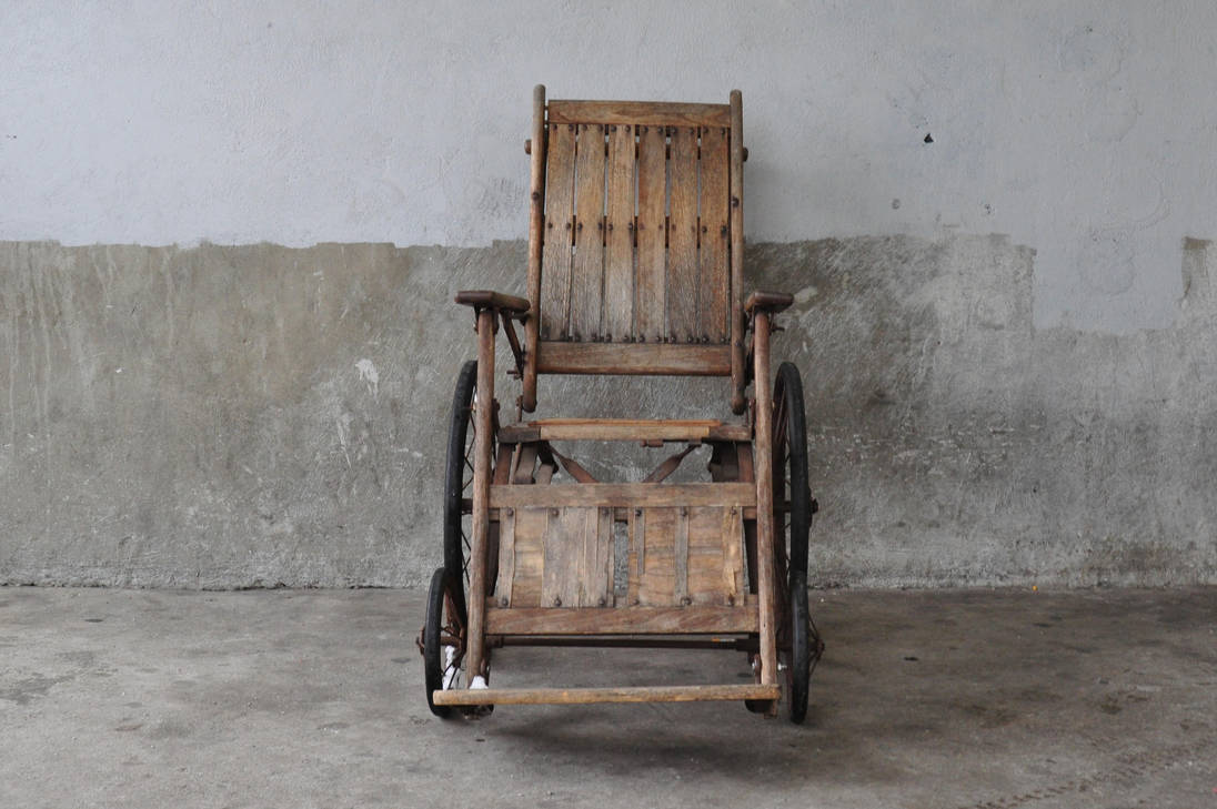 Wooden Wheel chair by cheekers-stock