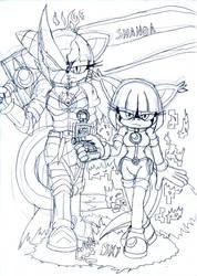 Sky AI ShadowHolo Lord and Shanoa the Shadowknight by DarkHedgehog23