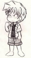 Takumi wearing a collared shirt by Neloku