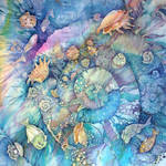 kerchief with fishes by ireneya
