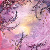 kerchief with autumn sun by ireneya