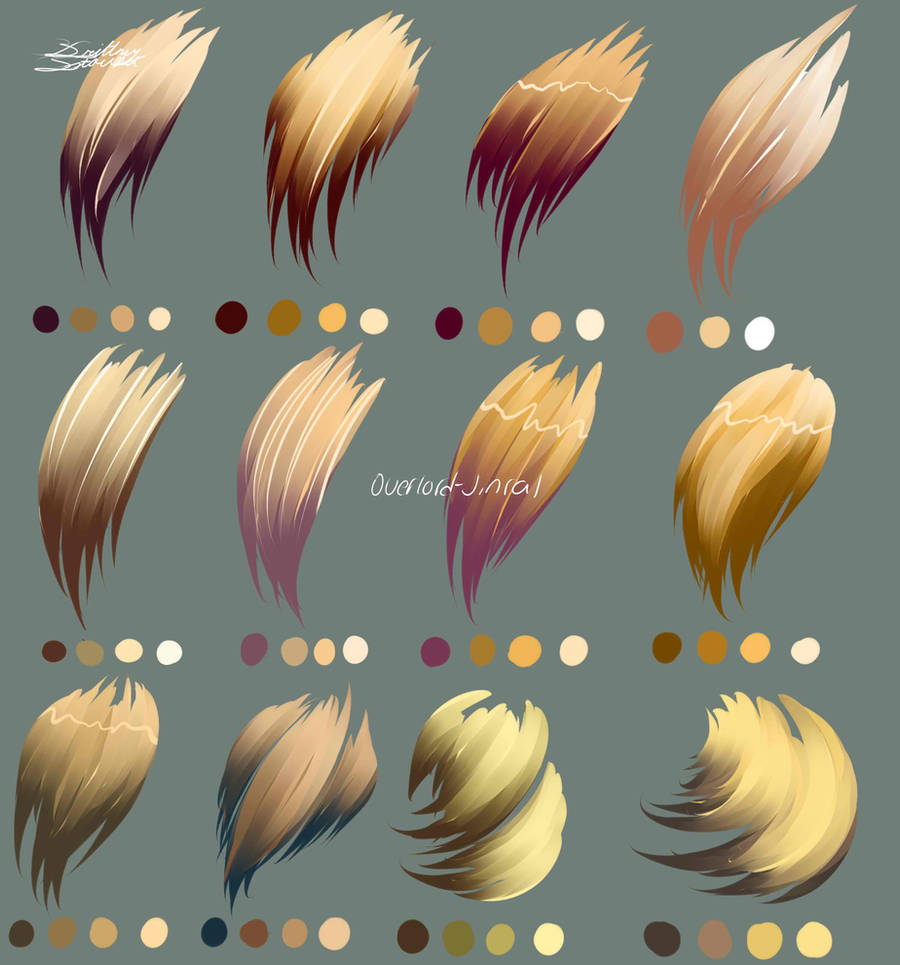 Blond Hair Colors by Overlord-Jinral