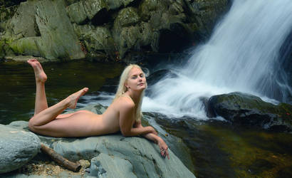 Nadya at the Watefall-1 by afplcc