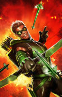 Green Arrow... by Dave-Wilkins