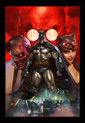 Batman Arkham Unhinged by Dave-Wilkins