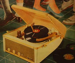 portable record player stock by fahrmboy-stock