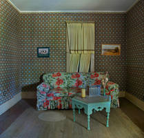 abandoned living room stock by fahrmboy-stock