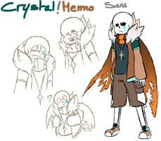 Doodle Crystal!Memo Sans by Orez-Suke