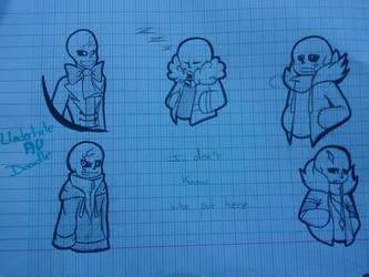 Sans AU Doodle by Orez-Suke